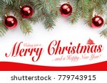 christmas greeting card design  ... | Shutterstock . vector #779743915
