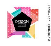 abctract geometric logo design  ... | Shutterstock .eps vector #779745337