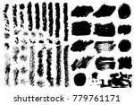 big collection of black grunge... | Shutterstock .eps vector #779761171