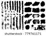 big collection of black grunge... | Shutterstock .eps vector #779761171