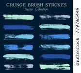 modern watercolor daubs set ... | Shutterstock .eps vector #779765449