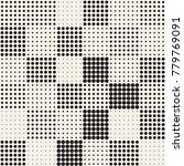 modern stylish halftone texture.... | Shutterstock .eps vector #779769091