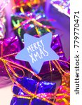 xmas party celebration presents ... | Shutterstock . vector #779770471
