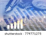 virtual chart business concept | Shutterstock . vector #779771275