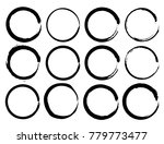 vector set of grunge circle... | Shutterstock .eps vector #779773477