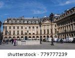 paris  france   april 8  2017 ... | Shutterstock . vector #779777239