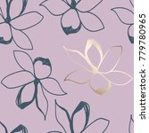 floral seamless pattern. pastel ... | Shutterstock .eps vector #779780965