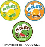round label or sticker for ice... | Shutterstock .eps vector #779783227