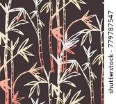 bamboo forest background...   Shutterstock .eps vector #779787547