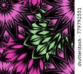 seamless floral background....   Shutterstock .eps vector #779792551