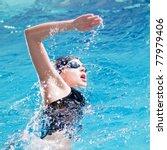 swimmer breathing performing... | Shutterstock . vector #77979406