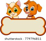 vector illustration  cats and... | Shutterstock .eps vector #779796811