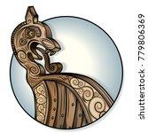 vector drawing of a   viking... | Shutterstock .eps vector #779806369
