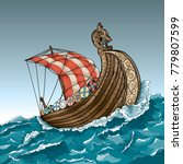 vector drawing of a   viking... | Shutterstock .eps vector #779807599