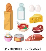 fresh food and drink. vector... | Shutterstock .eps vector #779810284