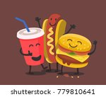 funny cute fast food. vector... | Shutterstock .eps vector #779810641