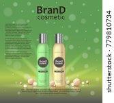 3d realistic cosmetic bottle... | Shutterstock .eps vector #779810734