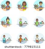 shopping  multicolor icon set | Shutterstock .eps vector #779815111