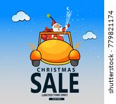 christmas sale  celebration 25... | Shutterstock .eps vector #779821174