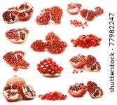 pomegranate isolated on white... | Shutterstock . vector #77982247