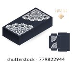 vector wedding card laser cut... | Shutterstock .eps vector #779822944