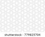 simple geometric seamless... | Shutterstock .eps vector #779825704