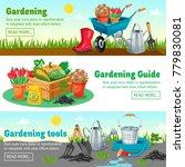 gardening horizontal banners... | Shutterstock . vector #779830081