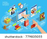 online shopping ecommerce 24... | Shutterstock . vector #779835055