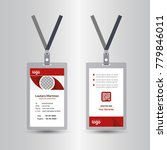 creative simple red id card... | Shutterstock .eps vector #779846011