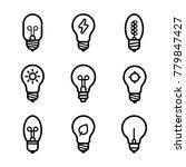 lightbulbs icon set | Shutterstock .eps vector #779847427