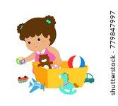 illustration of smiling kid... | Shutterstock .eps vector #779847997