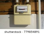 household gas meter of membrane ... | Shutterstock . vector #779854891