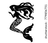 abstract mermaid with ornaments ... | Shutterstock .eps vector #779856751