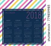 vector of 2018 new year...   Shutterstock .eps vector #779859985