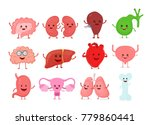cute smiling happy human... | Shutterstock .eps vector #779860441