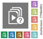 unknown playlist flat icons on... | Shutterstock .eps vector #779864851