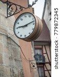 Closeup Of Ancient Clock In Th...