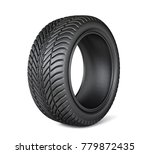 black tires isolated on a white.... | Shutterstock . vector #779872435