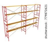 scaffolding metal construction... | Shutterstock . vector #779872621