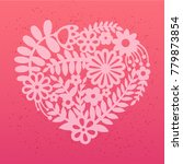 floral heart. valentine's day... | Shutterstock .eps vector #779873854