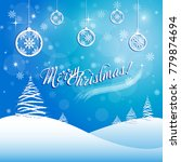 merry christmas greeting card.... | Shutterstock .eps vector #779874694