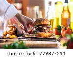 close up on the preparation of... | Shutterstock . vector #779877211