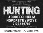 font alphabet script typeface... | Shutterstock .eps vector #779881495