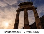 columns of greek temple at... | Shutterstock . vector #779884339