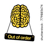 brain is out of order. problem  ... | Shutterstock .eps vector #779885674