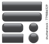 set black glossy web buttons ... | Shutterstock .eps vector #779886529