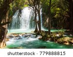 mexico. waterfall in chiapas ... | Shutterstock . vector #779888815