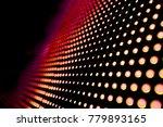 abstract led panel art  | Shutterstock . vector #779893165