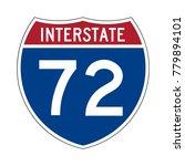 interstate highway 72 road sign  | Shutterstock .eps vector #779894101