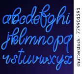 lowercase blue hand drawn 3d... | Shutterstock .eps vector #779901391